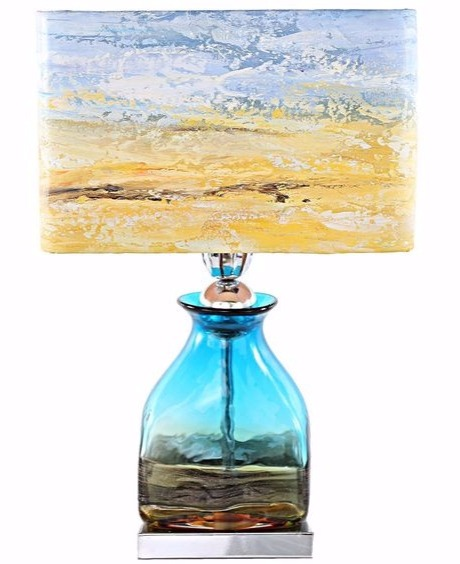 Abstract Impressionist Beach Table Lamp