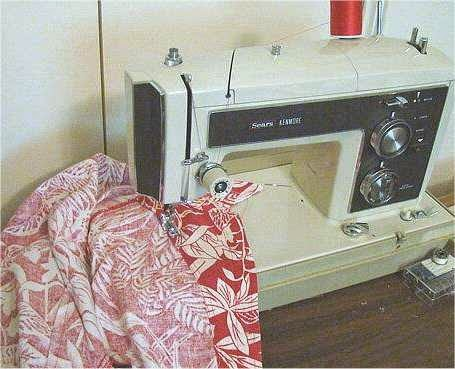 image of 1974 Kenmore portable sewing machine