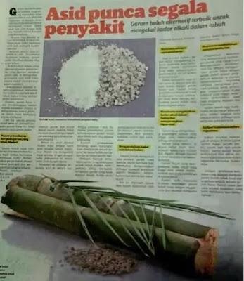 Akhbar membuktikan asid punca pelbagai penyakit
