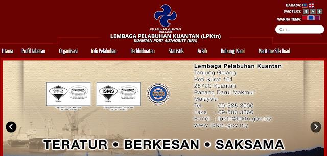 Rasmi - Jawatan Kosong di (LPKtn) Lembaga Pelabuhan Kuantan Terkini 2019