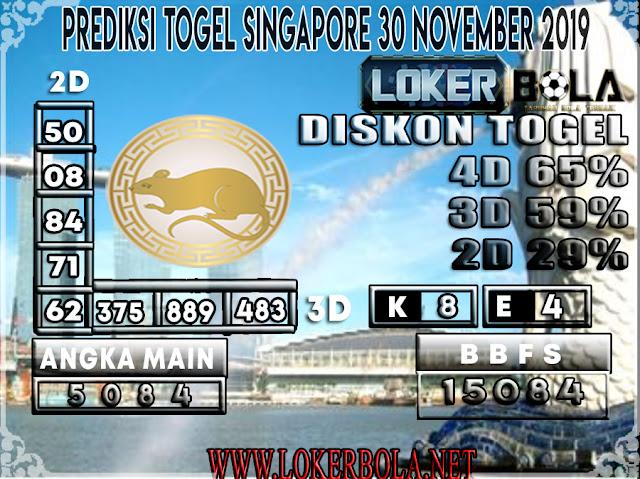PREDIKSI TOGEL SINGAPORE LOKERBOLA 30 NOVEMBER 2019