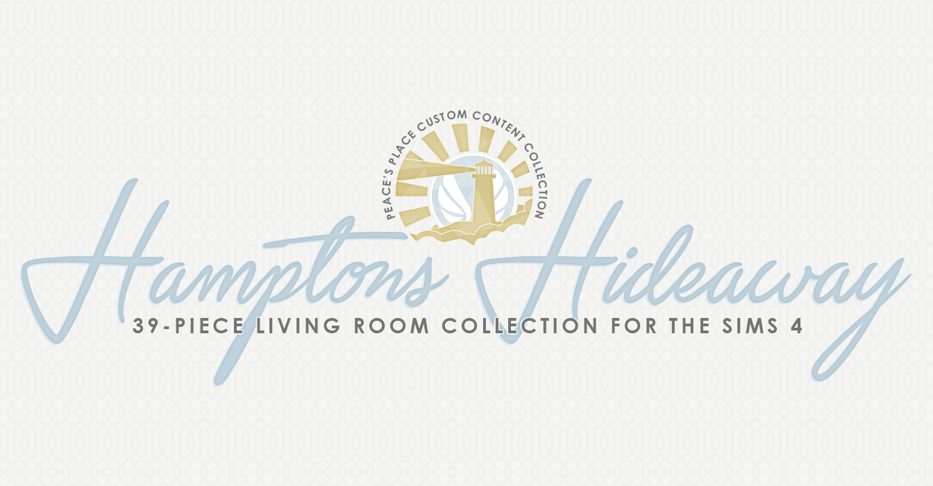 Hamptons Hideaway Living Room Set For Ts