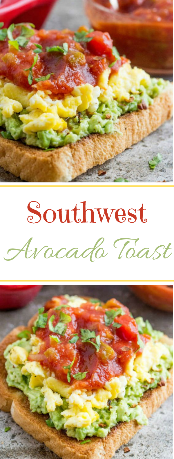 Southwest Avocado Toast #toast #vegetarian