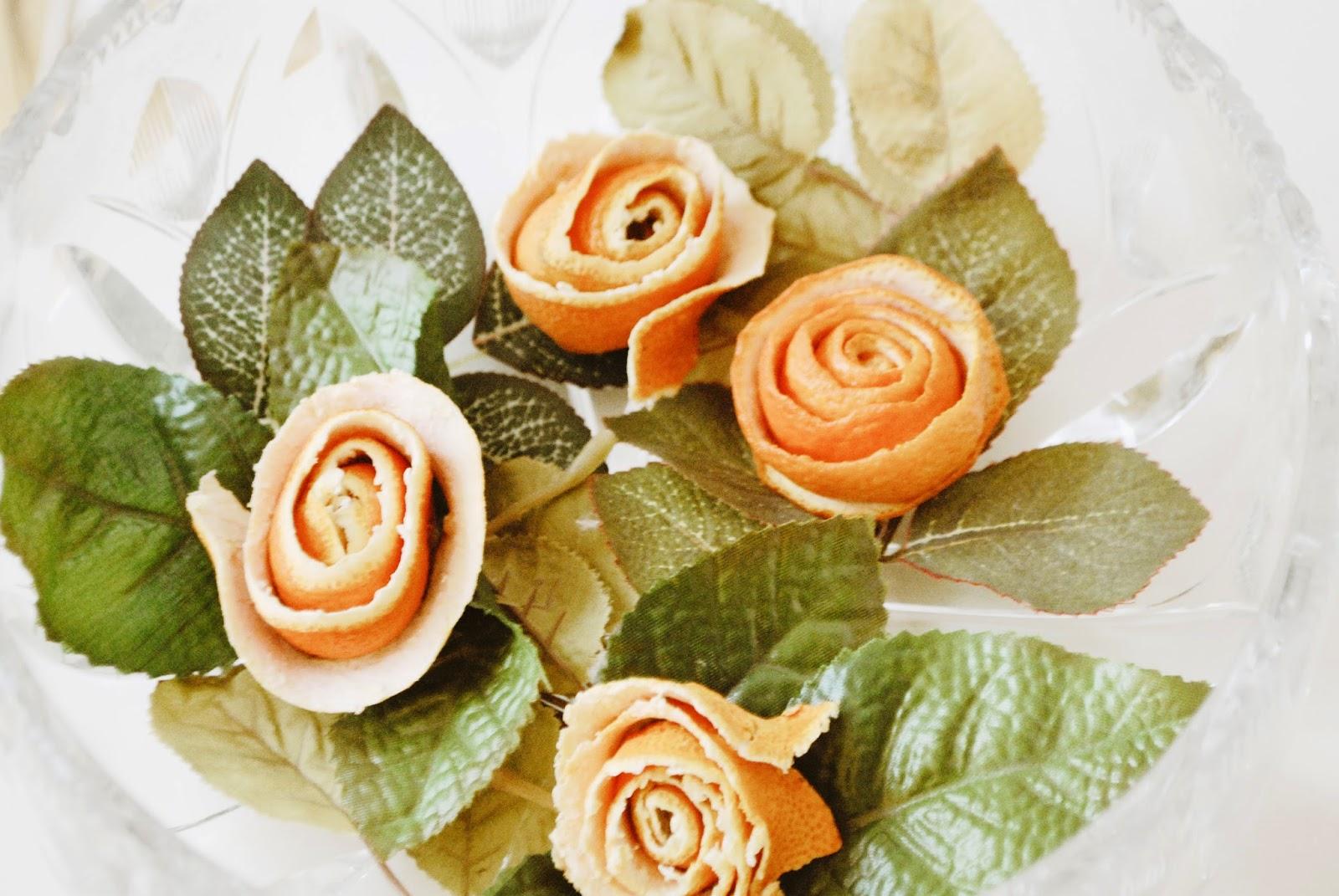 Rosen aus Clementinenschale