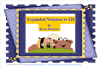 bear, expanded notation, 120, number sense, math, 1st grade