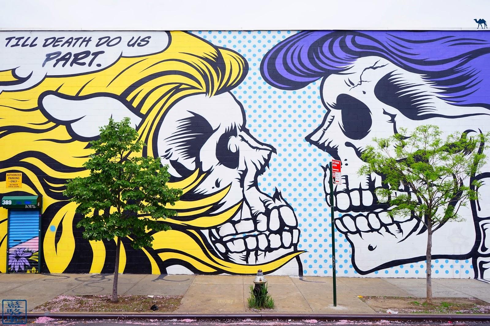 Le Chameau Bleu - Street Art Bushwick 2017 - Till Death Do Us Part - New York