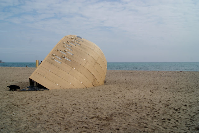 Winter Stations 2016 Design Competition, Toronto Beaches, Culture, Lifeguard Stations, architecture, Art, Artmatters, The Purple Scarf, Melanie.Ps, Ontario, Canada, The Steam Canoe, OCADU