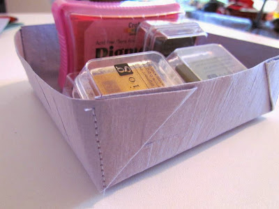 DIY caddy, DIY tray, paper tray, easy papercraft, DIY storage, Organizing Tools
