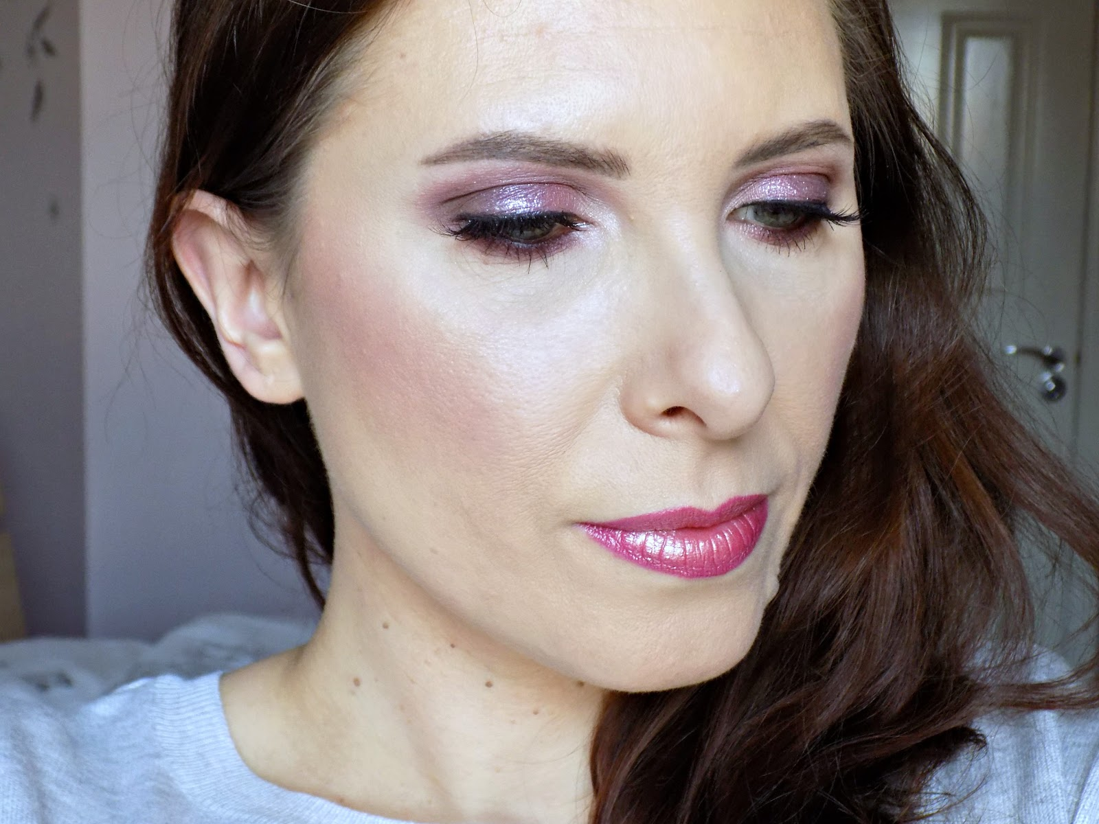 party makeup look with Bourjois & Influenster, #kissmass