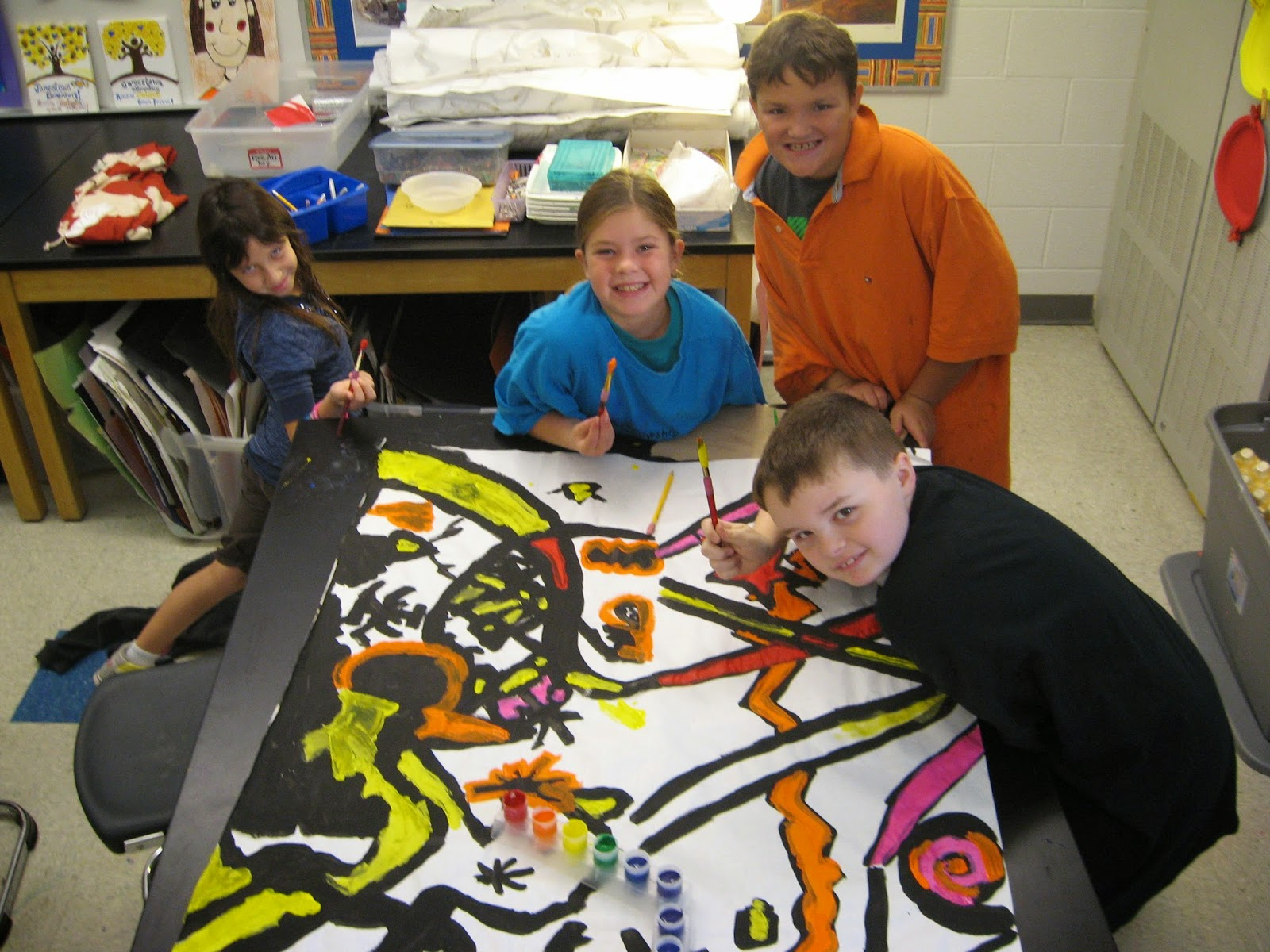 Jamestown Elementary Art Blog 4th Grade Abstract Kandinsky Murals