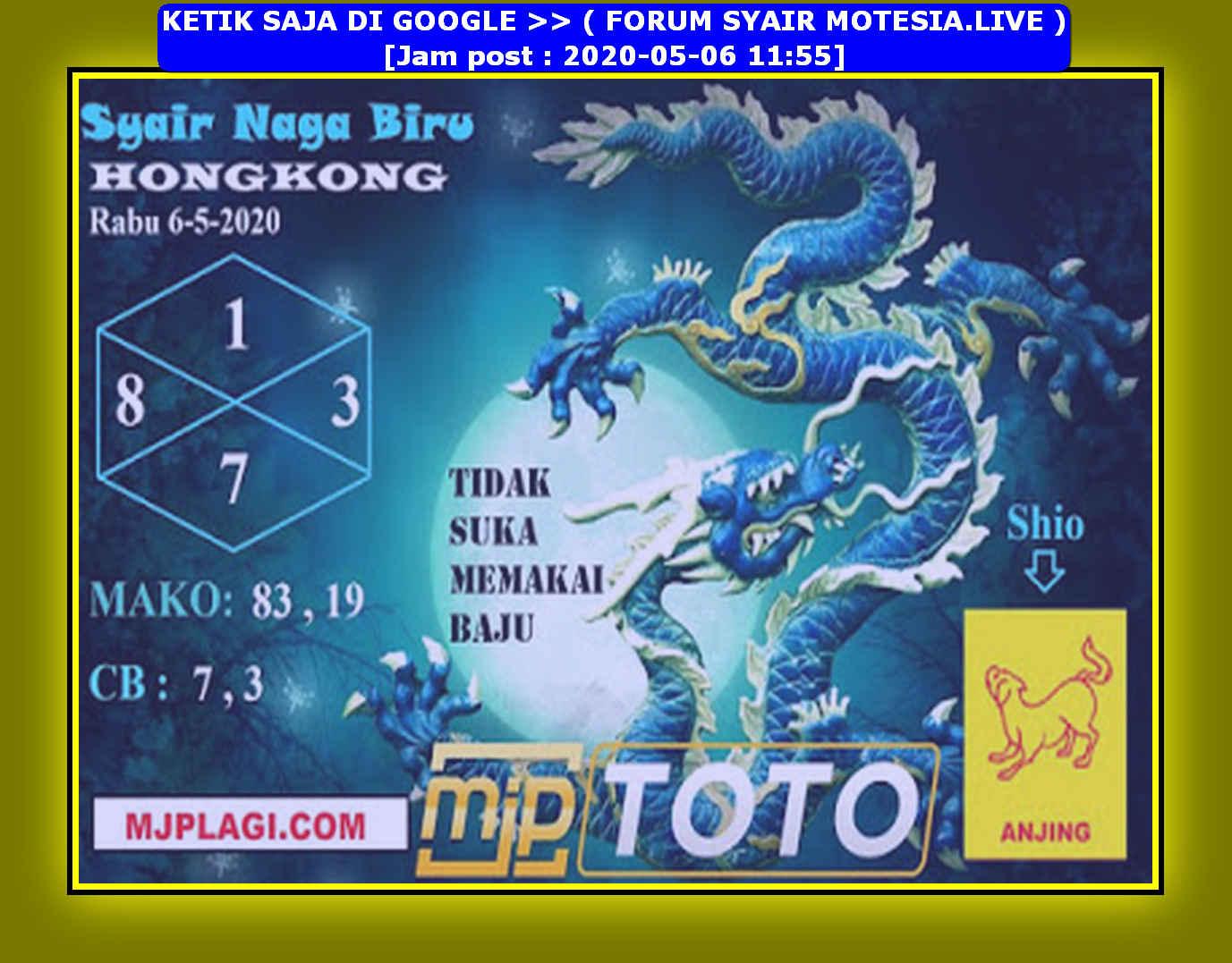 Kode syair Hongkong Rabu 6 Mei 2020 157
