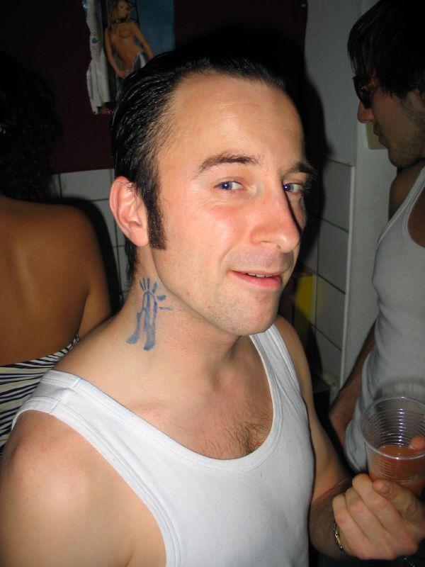 Boondock Saints Neck Tattoo