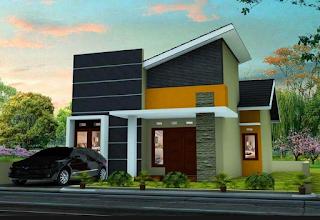 Rumah minimalis modern 2 lantai type 45