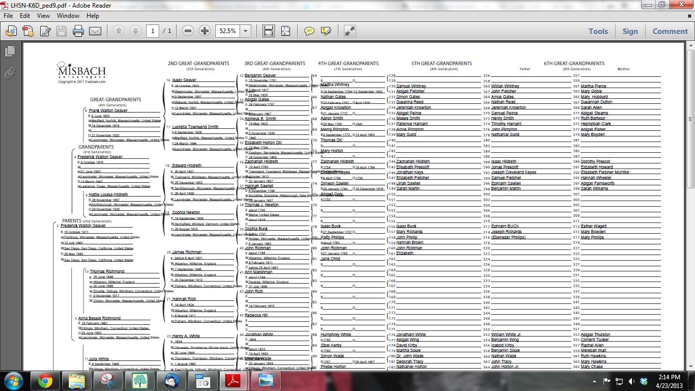 Pedigree Chart Template. free pedigree page downloads from jaydax ...