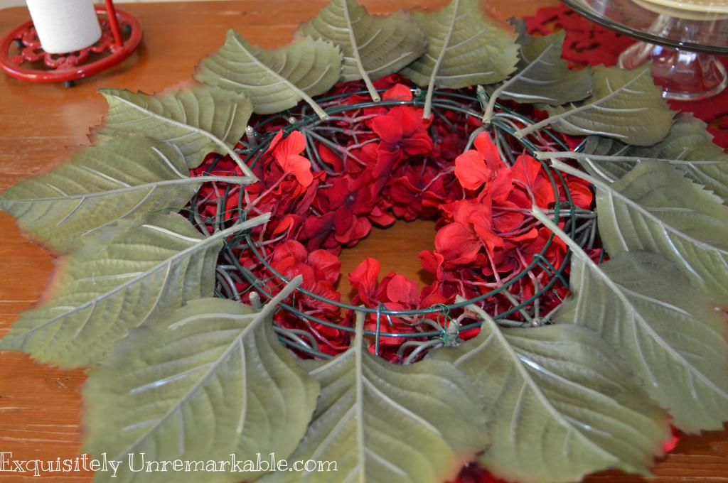 make a hydrangea wreath