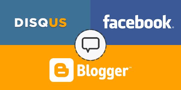 Cara Mudah Memasang Komentar Disqus, Blogger, Facebook Di Blog
