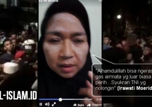 Mantan Atlit Nasional yang ikut Aksi Anti Komunis di Depan YLBHI Terkena Tembakan Gas Air Mata