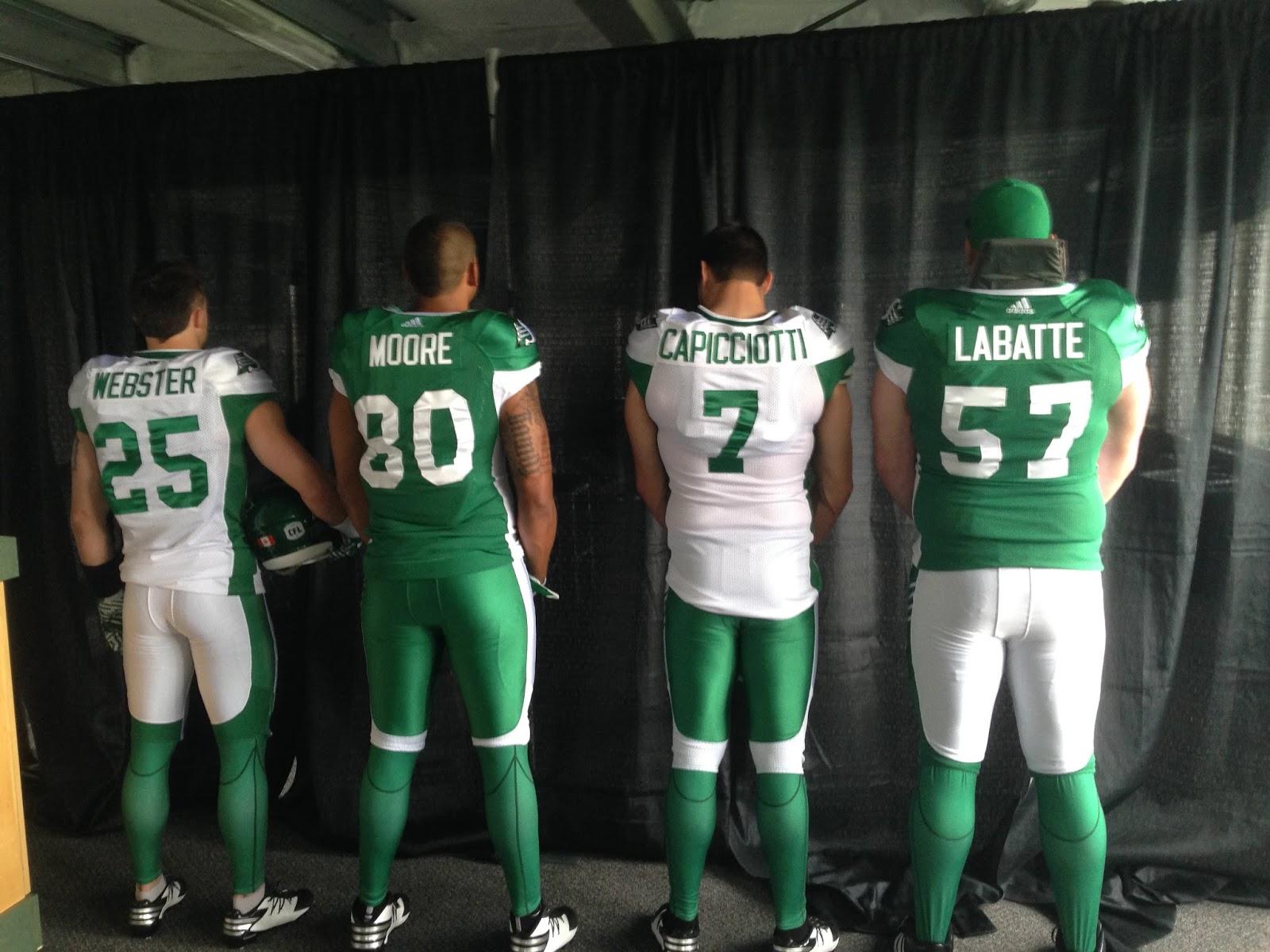 5ff036b44df Saskatchewan Roughriders   CFL unveil new adidas uniforms