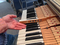 acoustic piano with key weights