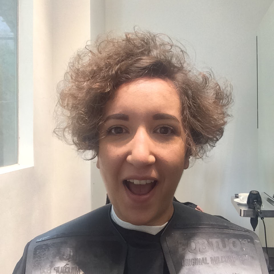 Frizzy hair at the hairdressers