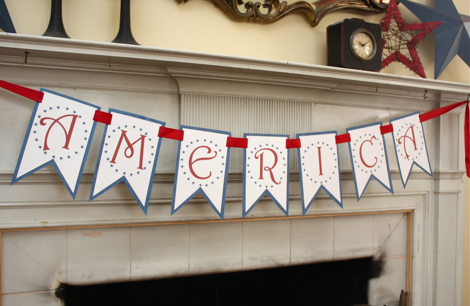 At Second Street America Banner Free Printable
