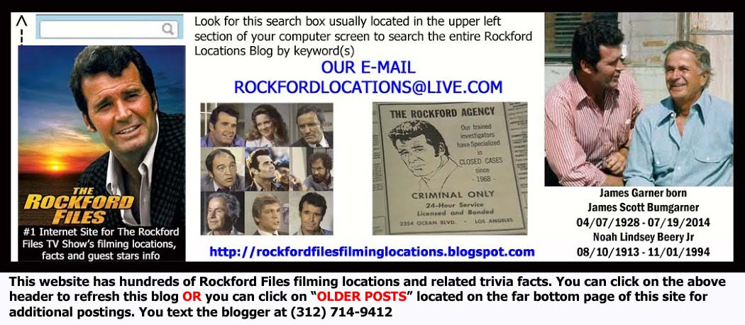 Rockford Files Filming Locations