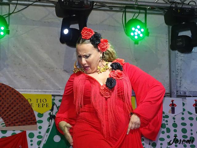 Ana Castilla al baile en la corte de cortegana