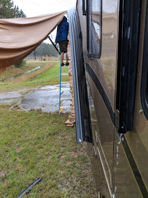 28 mph wind gust damaged our RV Pation Awning