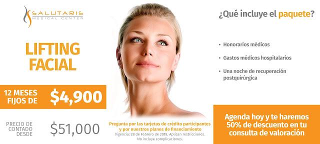 Paquete de Cirugia Plastica Rostro Cara Rejuvenecimiento Facial Ritidoplastia Precio Guadalajara Mexico