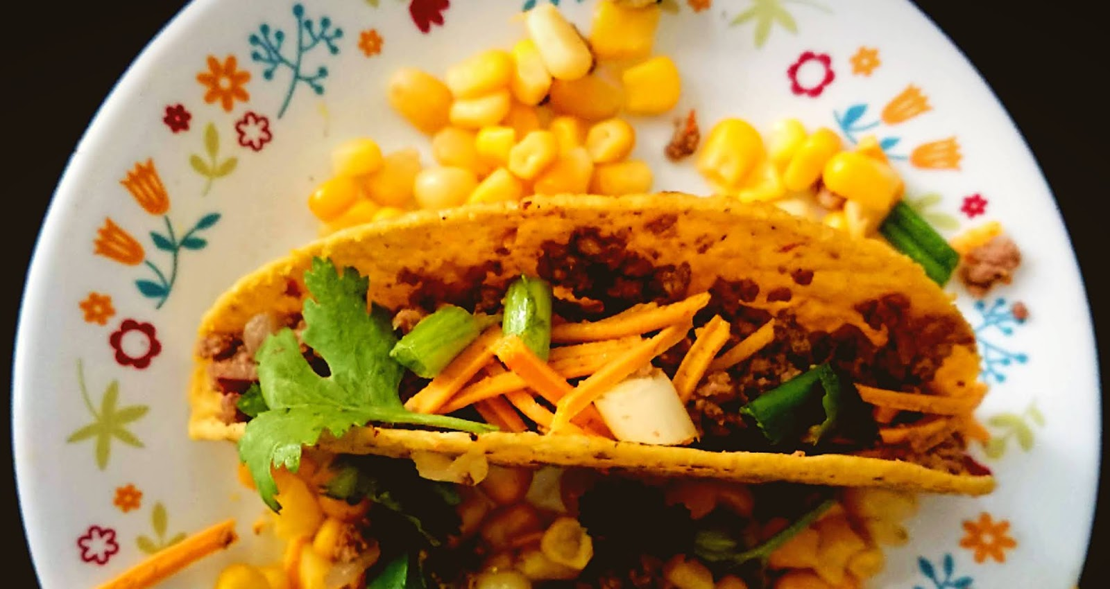 Quick and Easy Beef Tacos served with dairy free cheese