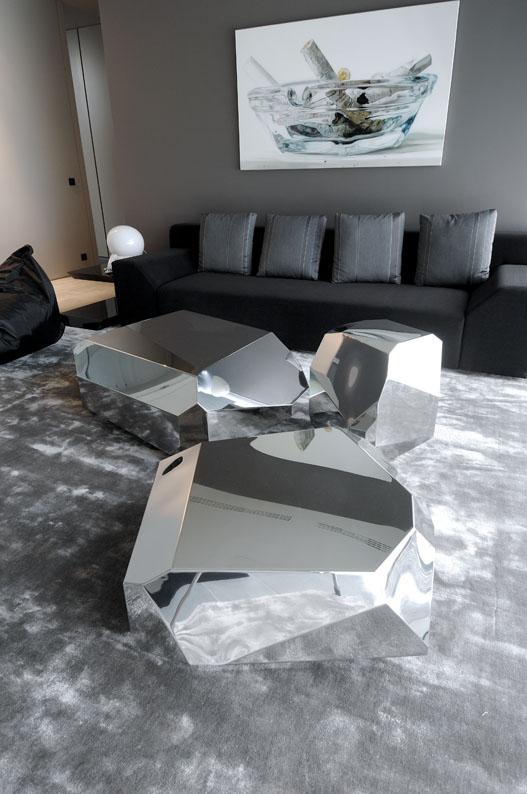 Arik Levy Mirrored Rock coffee tables