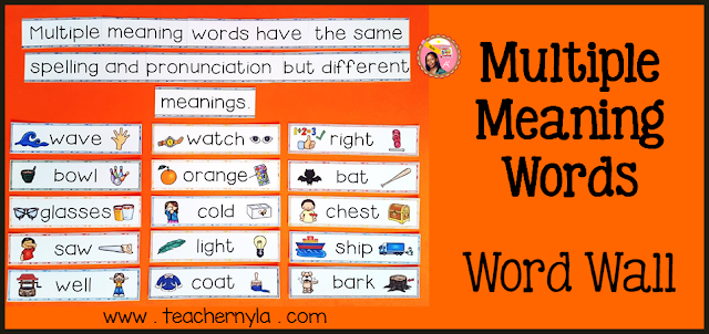 Nylas Crafty Teaching Multiple Meaning Words Ideas for Teaching – Multiple Meaning Word Worksheet