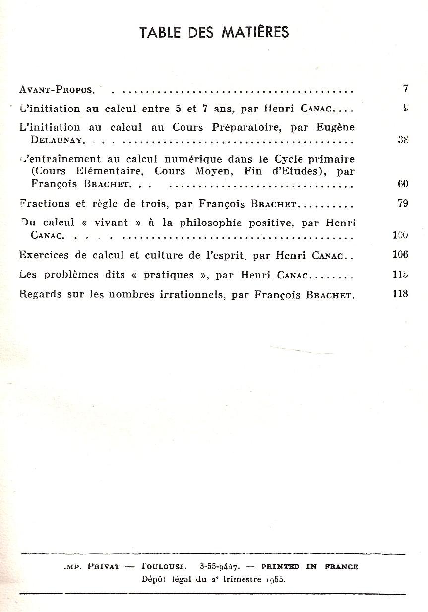 manuels anciens l 39 enfant et le nombre 1955 par brachet. Black Bedroom Furniture Sets. Home Design Ideas