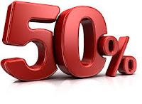 50% desconto
