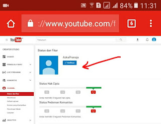 Verifikasi akun youtube