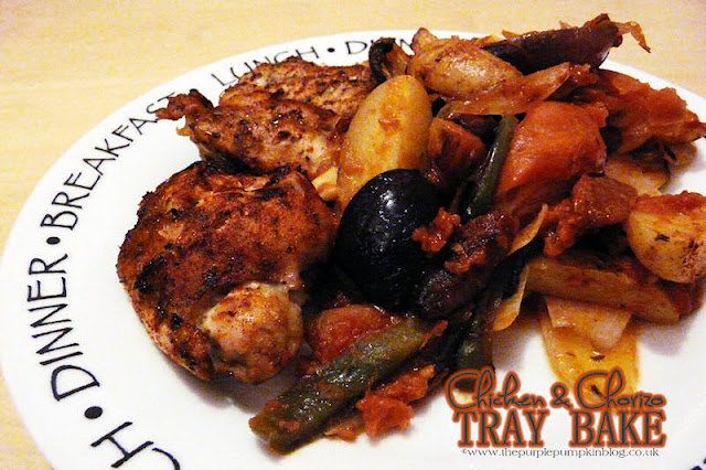 One Pan Chicken & Chorizo Tray Bake