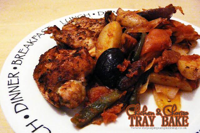 Chicken & Chorizo Tray Bake | The Purple Pumpkin Blog
