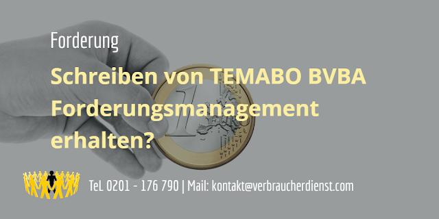 Beitragsbild: TEMABO BVBA Forderungsmanagement Schreiben erhalten?