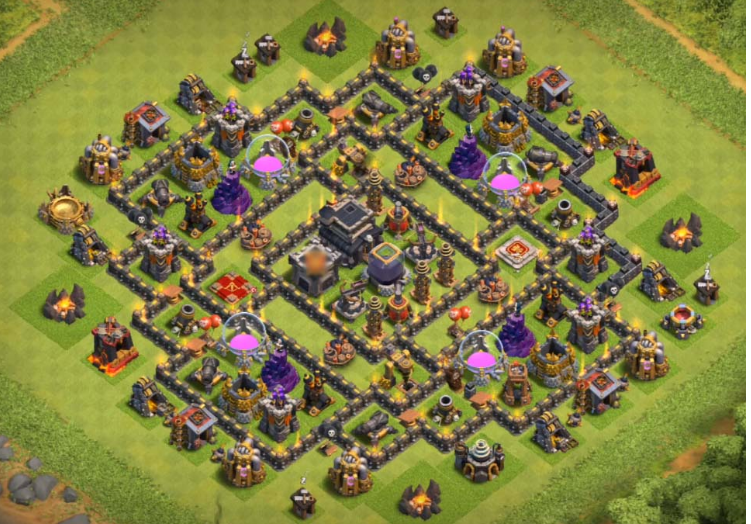 Anti Everything Coc Th9 Farming Base 10