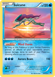 Suicune BREAKpoint Pokemon Card