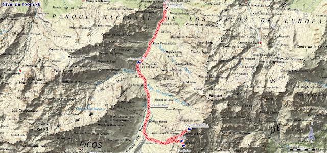 Mapa ruta Pico Cortés