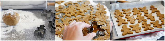 Step-by-step making homemade gingerbread dog treats