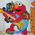 Moldes Gratis Elmo con Guitarra ¡Descargalos!