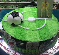 Bánh sinh nhật thể thao.