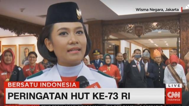 Tarrisa Maharani Dewi, Pembawa Baki Bendera Merah Putih