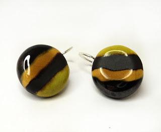 boucles d'oreille réglisse citron collection de bijoux bonbons sans sucre