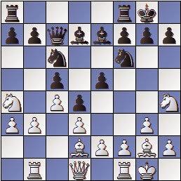 Partida de ajedrez José Paredes - Circol Isern, posición despues de 13.Ad2