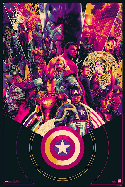 San Diego Comic-Con 2018 Exclusive Marvel Cinematic Universe 10th Anniversary Mondo Variant Screen Print by Matt Taylor
