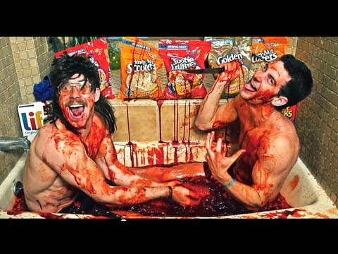 Wolf tits Buff Nerds Blood and Gore bathing tub