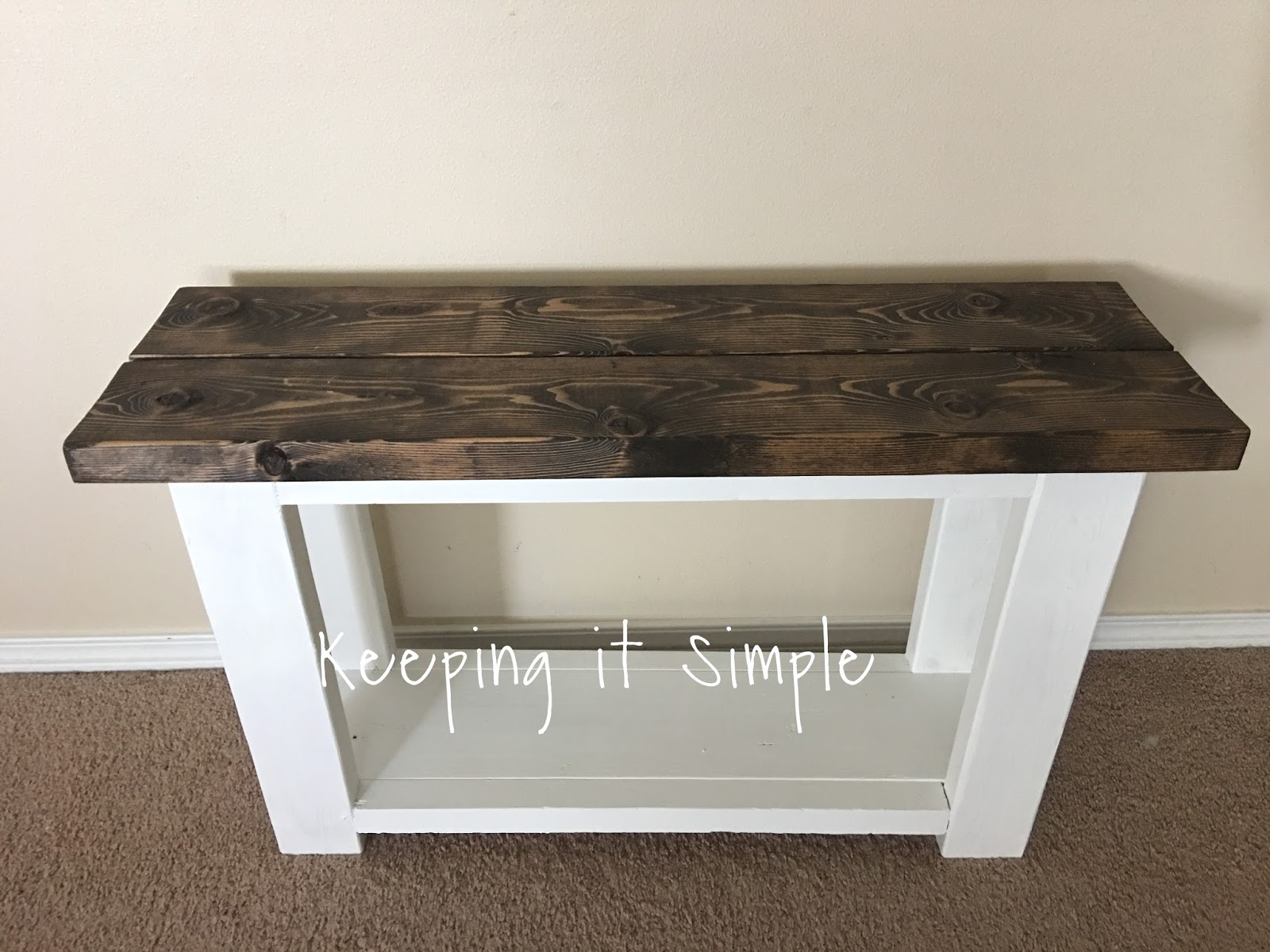 How To Build A Simple Bookcase Sofa Table Argos Voucher Codes Keeping It Side For